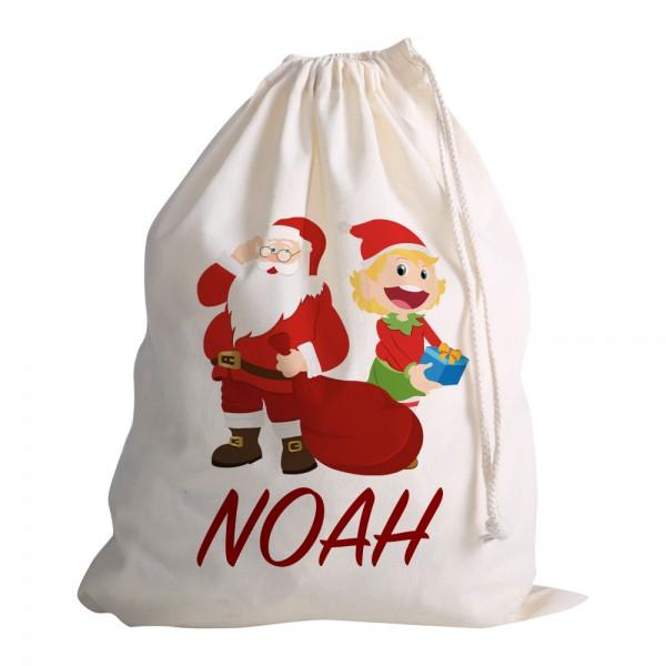 Katoenen Kerst zak